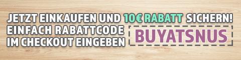 10€ Rabatt bei Deiner ersten Bestellung auf BuySnus.at
